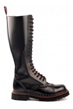 20 eye steel boots leather (black) Aderlass