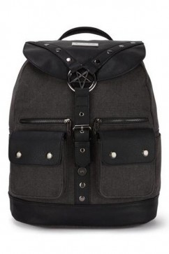 Ritual ring backpack canvas Killstar