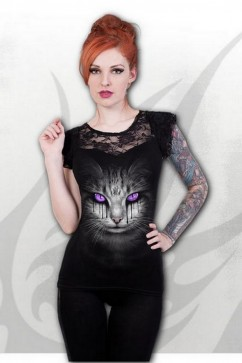D070F721 CAT'S TEARS - Lace Layered Cap Sleeve Top