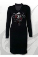 SKULL ROSES - Neck Band Elegant Dress Spiral