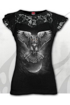 WINGS OF WISDOM - Lace Layered Cap Sleeve Top Spiral