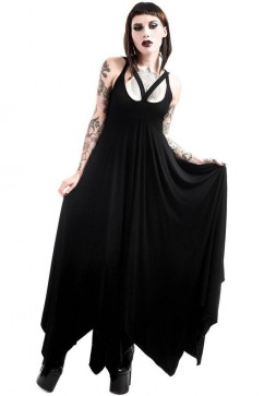 Deimos Doom Maxi Dress Killstar