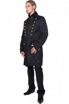Admiral Coat Brocade (black) Aderlass