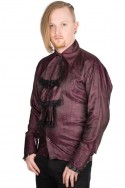 Volant Shirt Paisley Satin (Bordeaux) Aderlass