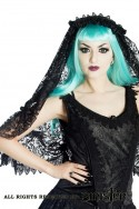 Black lace gothic wedding veil by Sinister